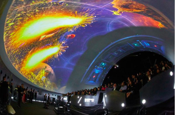 Hemispherical screen for The Marvel Experience Thailand
