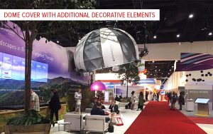 event dome with decorative cover