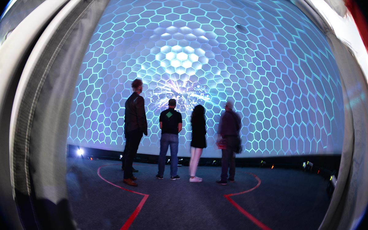 virtual reality projection dome in LA