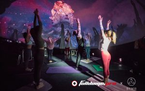 yoga in the projection dome